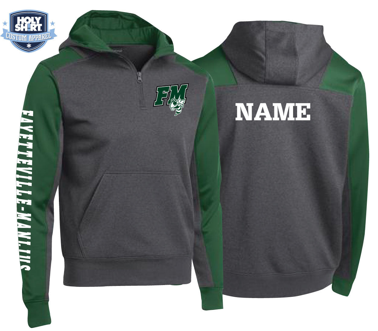 FM Hornets 1/4 Zip Performance Dry-Wick Performance Hoodies