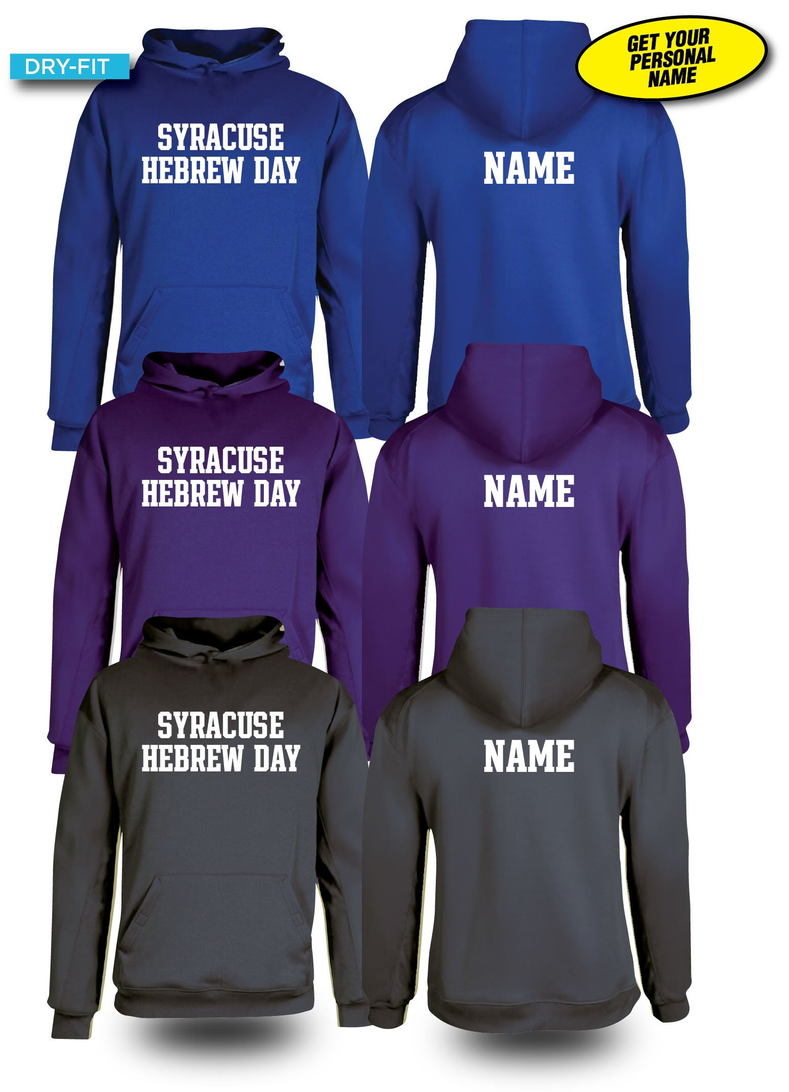 DRY-FIT Hoodies - PERSONAL NAME