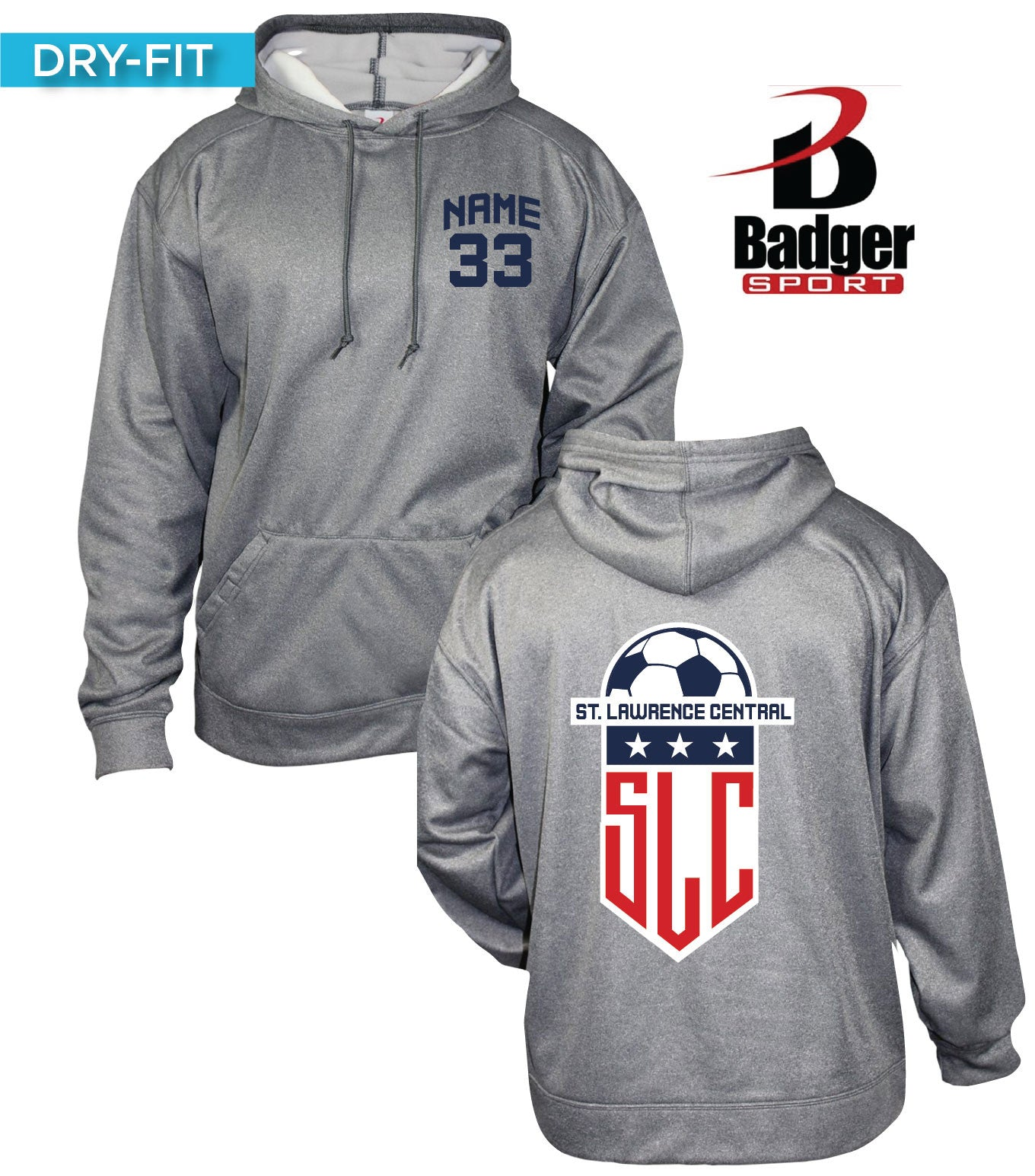 Badger Dry-Fit Heathered Hoodies