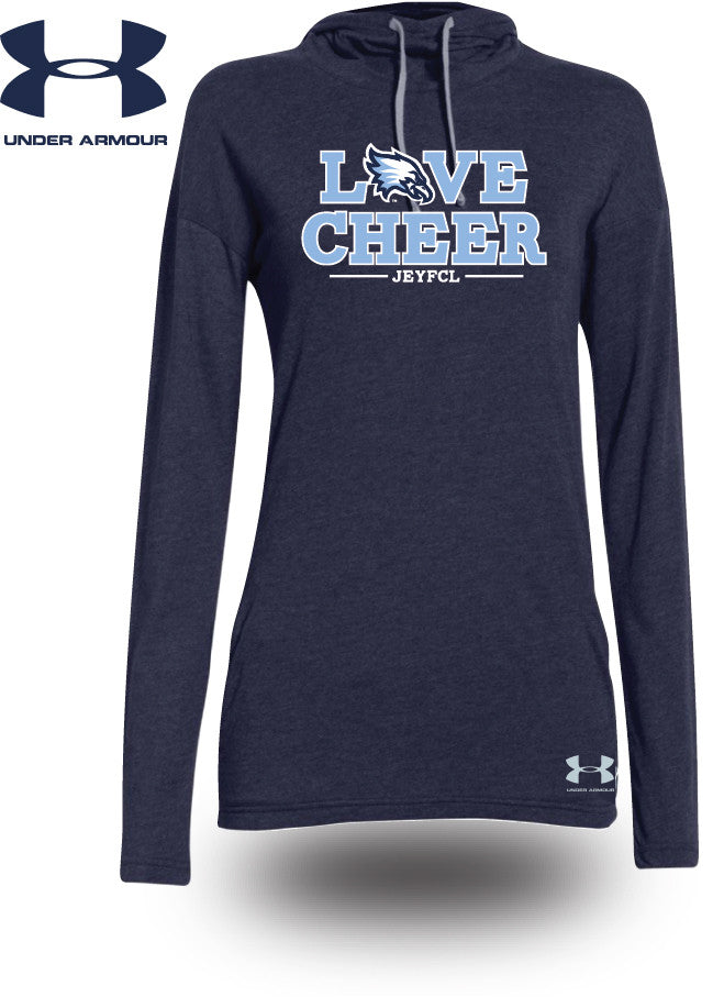 LOVE CHEER - Women's Cut Under Armour® Stadium Hooded Tees