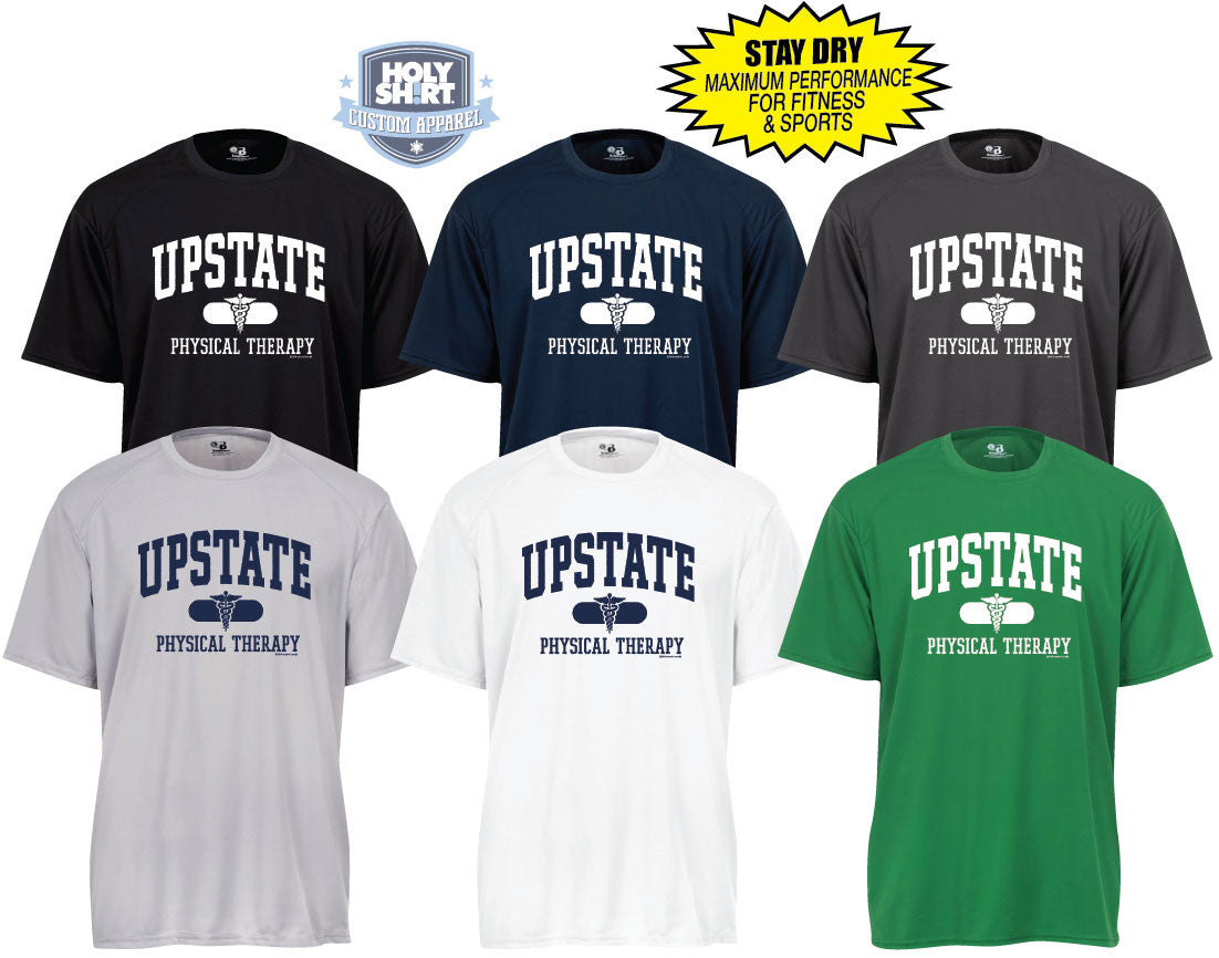 "Upstate Physical Therapy Men's ""Stay-Dri"" Shortsleeve Performance Shirts"