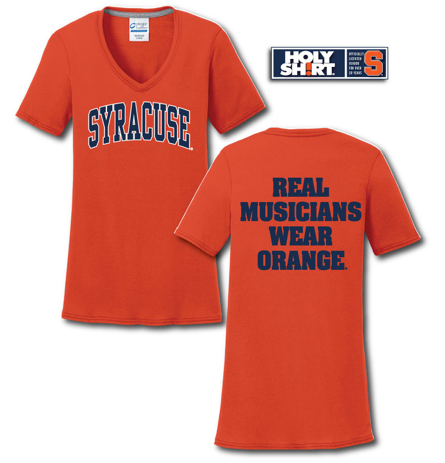 Ladies V-Neck Cotton T-Shirts - SYRACUSE