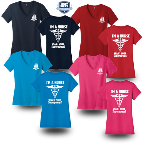 Women's Cut V-Neck T-Shirts
