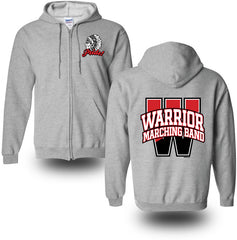 "Marching Band ""PRIDE"" Full Zip Cotton Hoodies"