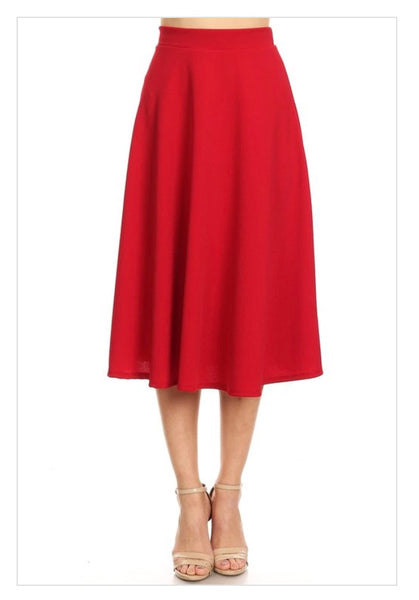 """Preety in Red"" Skirt"