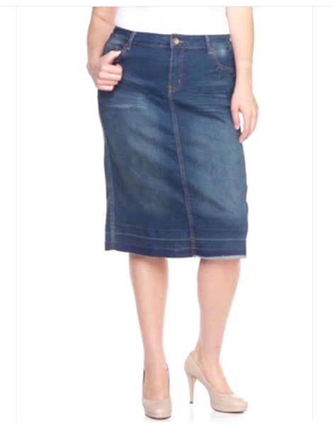 Light Washed Denim Skirt