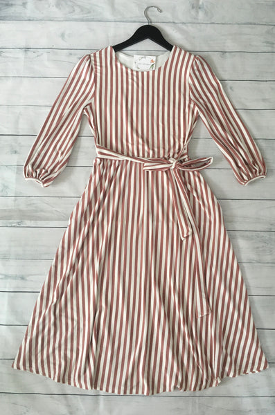 Blush striped Dress