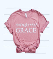 "Pink ""amazing grace"" T-Shirt"