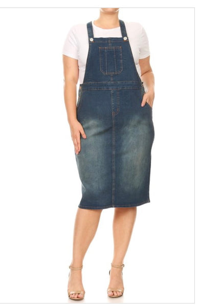 Vintage Denim Overall *PLUS*