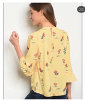 Yellow/Floral Top