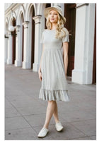 Heather Gray midi dress