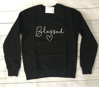 """Blessed"" Sweatshirt (Black)"