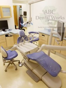 One of the two chairs from the two room prosthodontics package