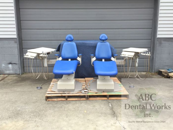 A-dec Performer III 8000 Dental Chair with A-dec 3171 Dual Wall Mount Delivery