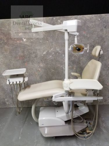 A-dec Performer III 8000 Hydraulic Dental Chair w Delivery, Assistant Pkg., and Light