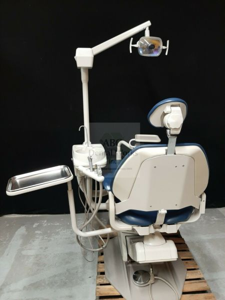 A-dec Performer III 8000 Dental Chair, Radius Delivery, Cuspidor, Assistants Arm, 6300 Light NICE