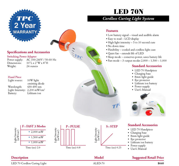 LED 70N Cordless Curing Light System