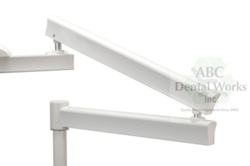 "Post Mount Flex Arm w Light Counterbalance Spring in White 50"" PN 8733LT"