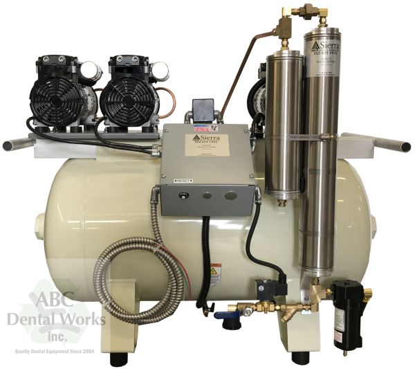 Sierra Dental EGL-T12 Oil-less Dental Air Compressor 1-6 User New