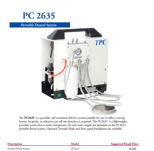 TPC PC2635 Portable Dental Delivery System