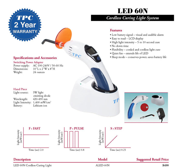 LED 60N Cordless Curing Light System