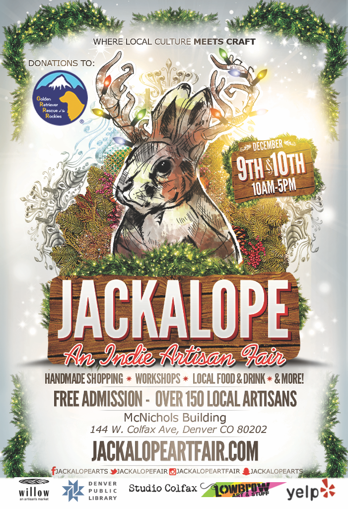 Jackelope Arts Fair at McNichols Building with Equillibrium Holiday 2017