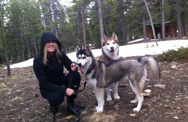 Deb Henriksen with her Fur Babaie, Gnarvik and Jorunn
