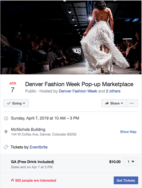303 Magazine's Denver Fashion Week Designer Pop-up