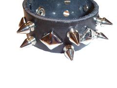Equillibrium Up-cycled Leather Spiked Cuff Bracelet - Equillibrium - 3