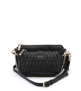 GUESS ARIE QUILTED DOUBLE POUCH CROSSBODY Laukku