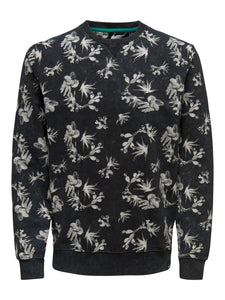 ONSNED AOP WASHED CREW NECK Collegepaita