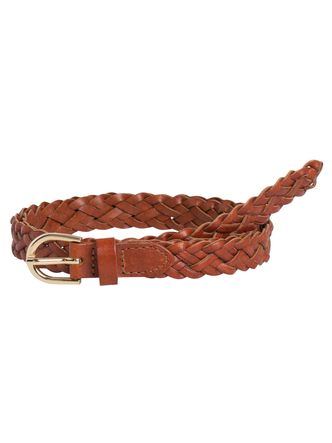PCAVERY LEATHER BRAIDED SLIM BELT NOOS Vyö