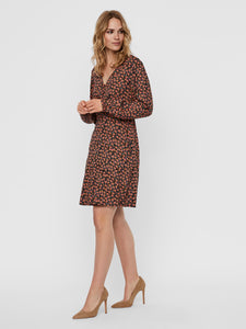 VMMILDA LS SHORT DRESS WVN GA Mekko