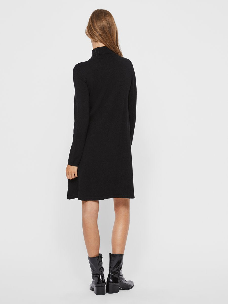 VMGLORY LS ROLLNECK DRESS COLOR Neulemekko