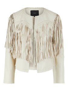 YASSALAN FRINGE LEATHER JACKET  Nahkatakki