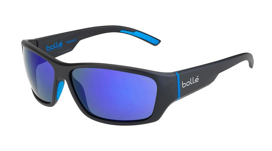 Bolle Ibex - Matte Black Blue with Polarized Lens