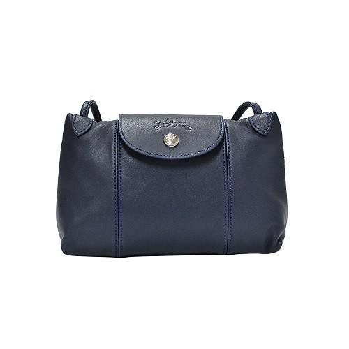 Longchamp Pliage Cuir Crossbody Navy L1061737556