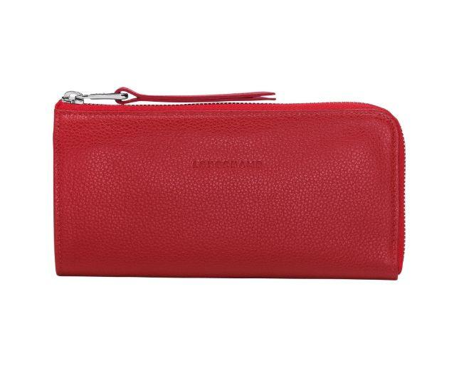 Longchamp Le Foulonne Zip Around Wallet Vermilion L3418021608
