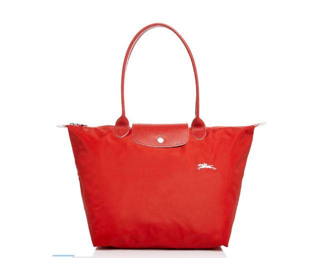Longchamp Le Pliage Club Shoulder Bag Vermilion Large