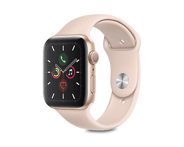 Apple Watch S5 44mm Gold Aluminium + Pink Sports Band