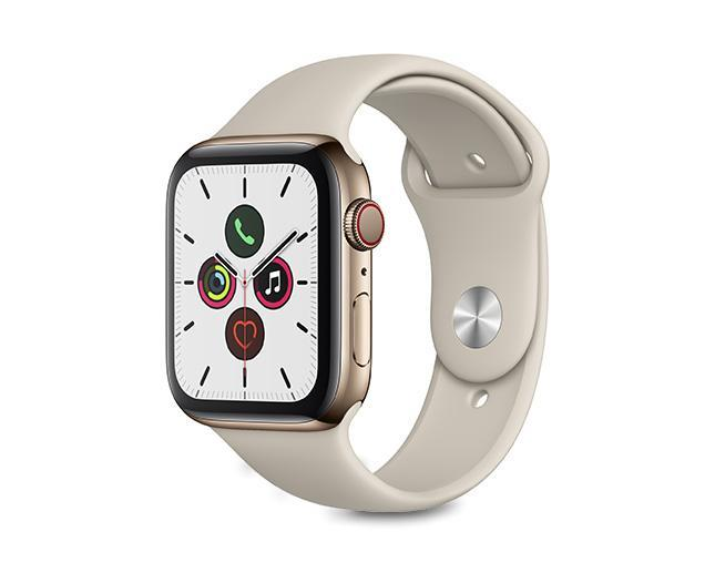 Apple Watch S5 44mm Cellular  Gold Stainless Steel Case + Stone Sport Band