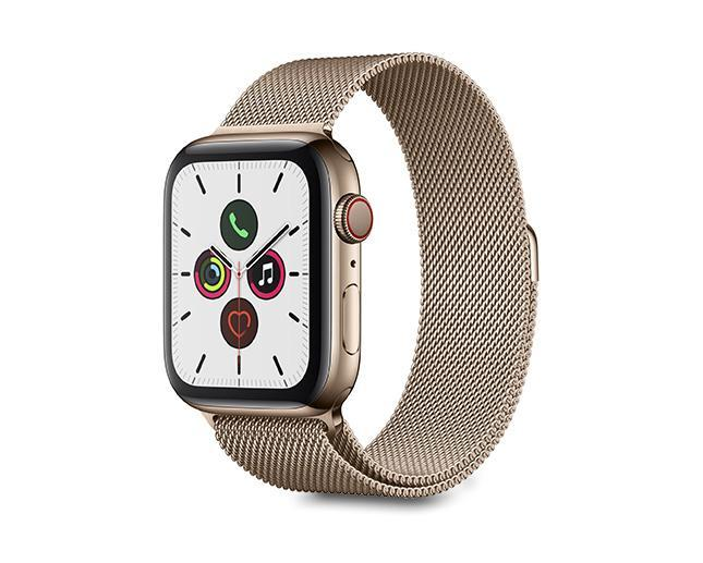 Apple Watch S5 44mm Cellular Gold Stainless Steel + Milanese Loop