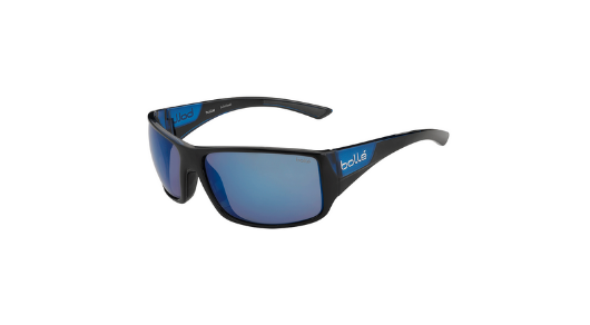 Bolle Tigersnake - Shiny Black with Polarized Offshore Blue Lens