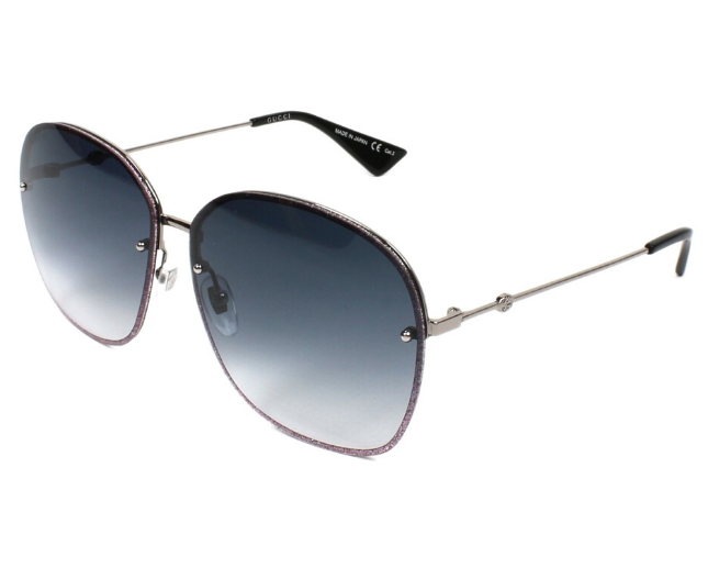Gucci Gg0228S-004 Ruthenium-Ruthenium-Grey