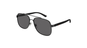 Gucci Men's - GG0422S - Ruthenium/Black/Grey