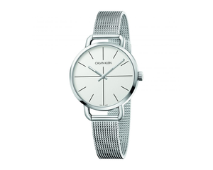 Ck Even Ladies  36 Silver Dial Mesh Bracelet