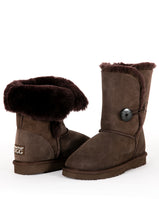 Urban Trail UGG - 3/4 Length Sheepskin Boots with Button