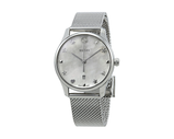 Gucci Timeless Ladies Steel Mother Of Pearl Dial Mesh Bracelet
