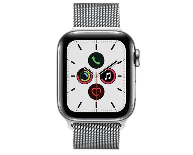 Apple Watch S5 40mm Cellular Stainless Steel + Silver Milanese Loop