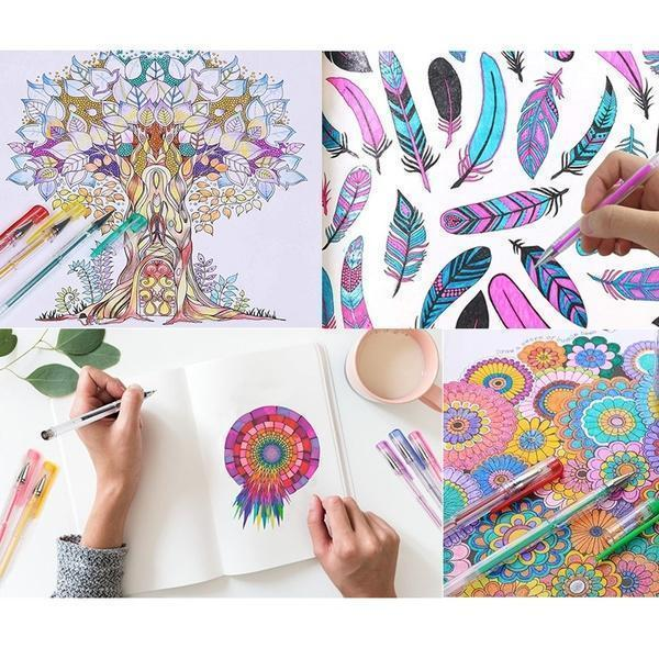 Gel Pens for Adult Coloring Books - 50% OFF TODAY ONLY!